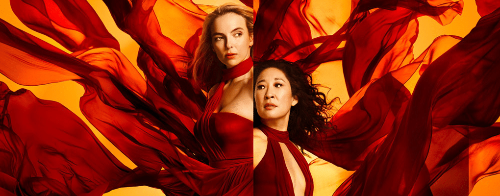 Jodie Comer and Sandra Oh star as Villanelle and Eve in Killing Eve, one of the top TV dramas of 2020